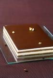 Gâteau au café de chocolat de ` d'opéra de ` photo libre de droits
