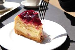 Gâteau au fromage photo libre de droits