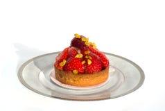 Gâteau au fromage avec la fraise fraîche Photographie stock libre de droits