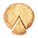 Gâteau au fromage avec le morceau coupé Image libre de droits