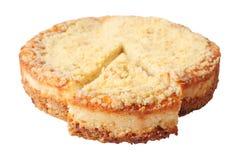 Gâteau au fromage avec le secteur coupé Image stock