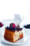 Gâteau au fromage avec les fraises et le chocolat Images stock