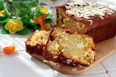 Gâteau au fromage avec les fruits glacés photo libre de droits