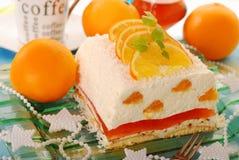 Gâteau au fromage avec les oranges et la gelée pour Noël image stock