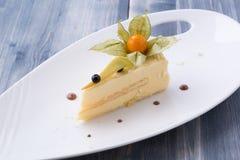 Gâteau au fromage classique et frais photo stock