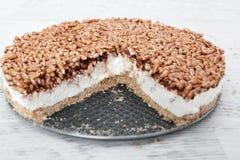 Gâteau au fromage crémeux images libres de droits
