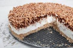 Gâteau au fromage crémeux photo stock