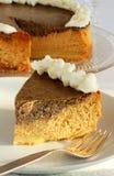 Gâteau au fromage d'épice de potiron Photos libres de droits