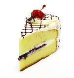 Gâteau au fromage d'isolement sur le blanc Photo libre de droits