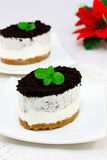 Gâteau au fromage d'Oreo images stock