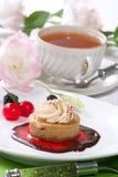 Gâteau au fromage de cappuccino Images libres de droits