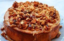 Gâteau au fromage de caramel Photo libre de droits