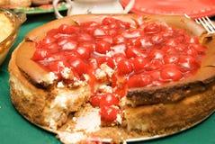Gâteau au fromage de cerise Image libre de droits