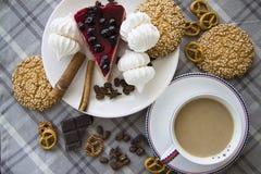 Gâteau au fromage de cerise avec les biscuits 07 Image stock