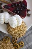 Gâteau au fromage de cerise avec les biscuits 05 Images libres de droits