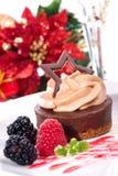Gâteau au fromage de chocolat image libre de droits