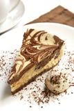 Gâteau au fromage de chocolat images libres de droits