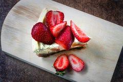 Gâteau au fromage de fraise image stock