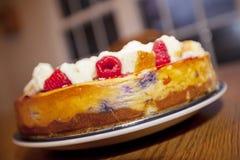 Gâteau au fromage de framboise Photos libres de droits