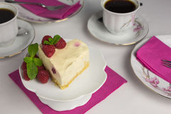 Gâteau au fromage de framboise Image libre de droits