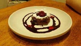 Gâteau au fromage de framboise de chocolat Photos stock