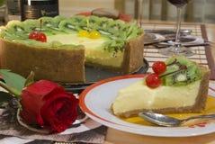 Gâteau au fromage de fruit Photographie stock libre de droits