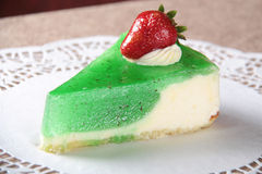 Gâteau au fromage de kiwi Photo stock