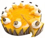 Gâteau au fromage de mangue Images stock