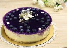 Gâteau au fromage de myrtille Photos libres de droits