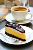 Gâteau au fromage de myrtille Photo stock