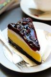 Gâteau au fromage de myrtille Images libres de droits