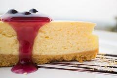 Gâteau au fromage de myrtille Photos stock