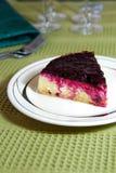 Gâteau au fromage de myrtille de part Photos libres de droits