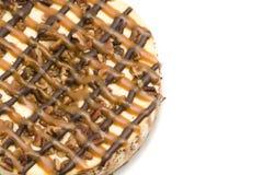 Gâteau au fromage de noix de pécan de Carmel Photos libres de droits