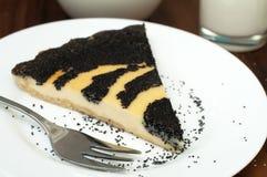 Gâteau au fromage de pavot Images libres de droits