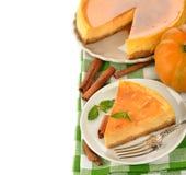 Gâteau au fromage de potiron photo stock
