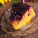 Gâteau au fromage de potiron d'automne avec des canneberges Photographie stock