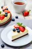 Gâteau au fromage de Ricotta Images stock