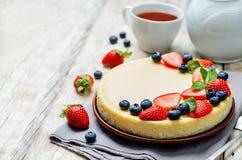 Gâteau au fromage de Ricotta Photos libres de droits