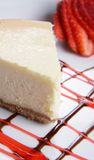 Gâteau au fromage de type de New York Photo libre de droits
