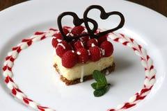 Gâteau au fromage de Valentines Images stock