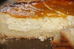 Gâteau au fromage fait maison délicieux Image libre de droits