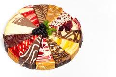 Gâteau au fromage gastronome d'échantillonneur Photographie stock libre de droits