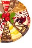 Gâteau au fromage gastronome d'échantillonneur Images stock