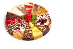 Gâteau au fromage gastronome d'échantillonneur Photos stock