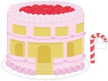 Gâteau au fromage graphics_3 de fraise illustration de vecteur