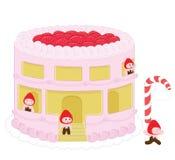 Gâteau au fromage graphics_2 de fraise illustration de vecteur