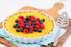 Gâteau au fromage gratuit de Ricotta de gluten Images libres de droits