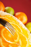Gâteau au fromage orange Images stock