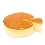 Gâteau au fromage rond de vue de côté photographie stock